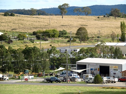 Industry adjacent to the Tenterfield Industrial Estate