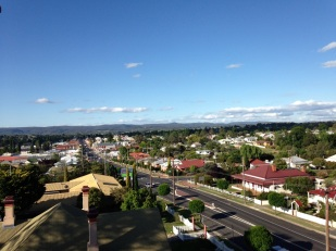 Overlooking town of Tenterfield