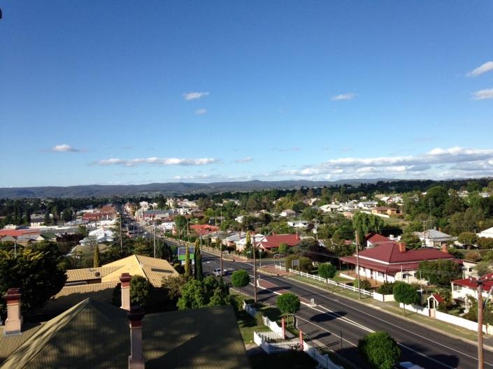 Overlooking town of Tenterfield